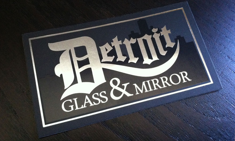Detroit Glass & Mirror - Business Card - SteelFish Design - Plymouth ...