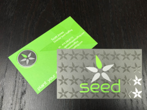 Seed staffing business card steelfish design plymouth michigan branding business card design for seed staffing premium business card printed 4 color cmyk double sided on a heavy 16pt card stock with spot gloss and colourmoves
